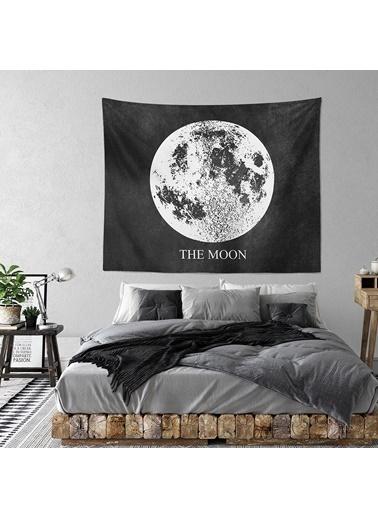 Eponj Home Tapestry Duvar Örtüsü 120x145 cm Moon Siyah Siyah